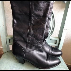 Frye Black Leather Boots Size 7 M